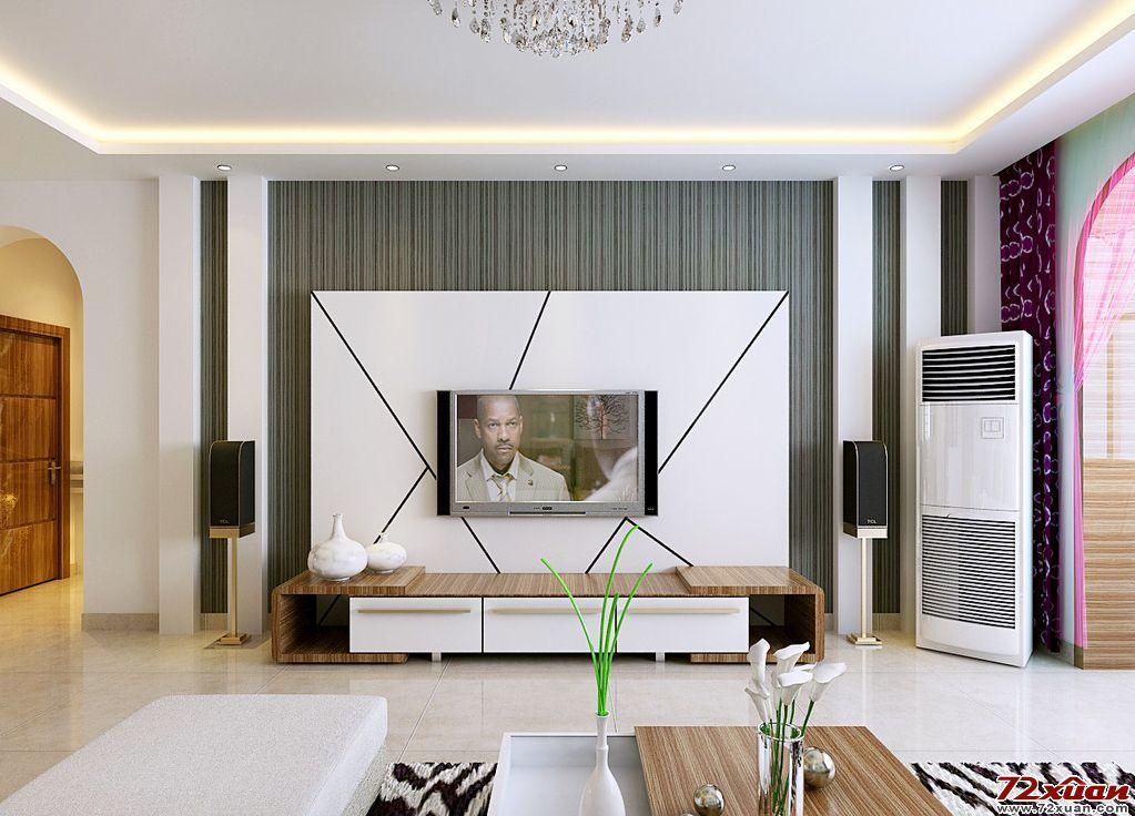 家装设计效果图---电视背景墙(三)